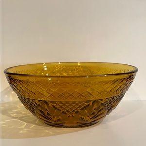 Vintage Indiana Amber Depression Bowls Set of 6